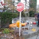 長野市内防火水槽施工時の画像
